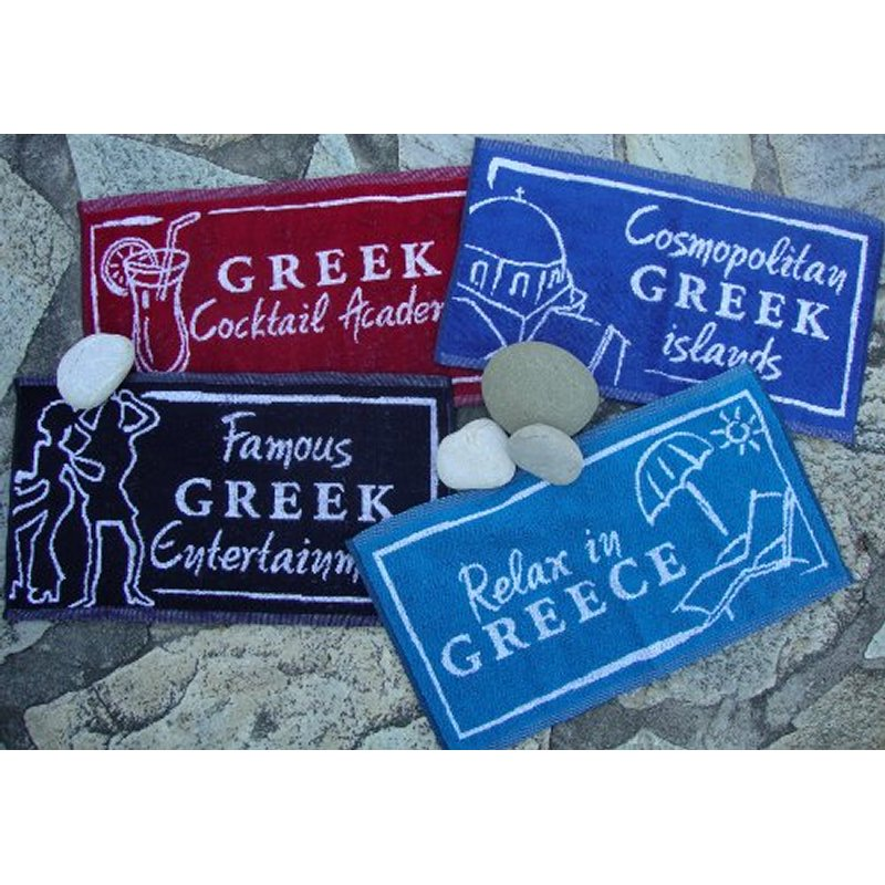 BAR TOWELS WITH GREEK LOGOS